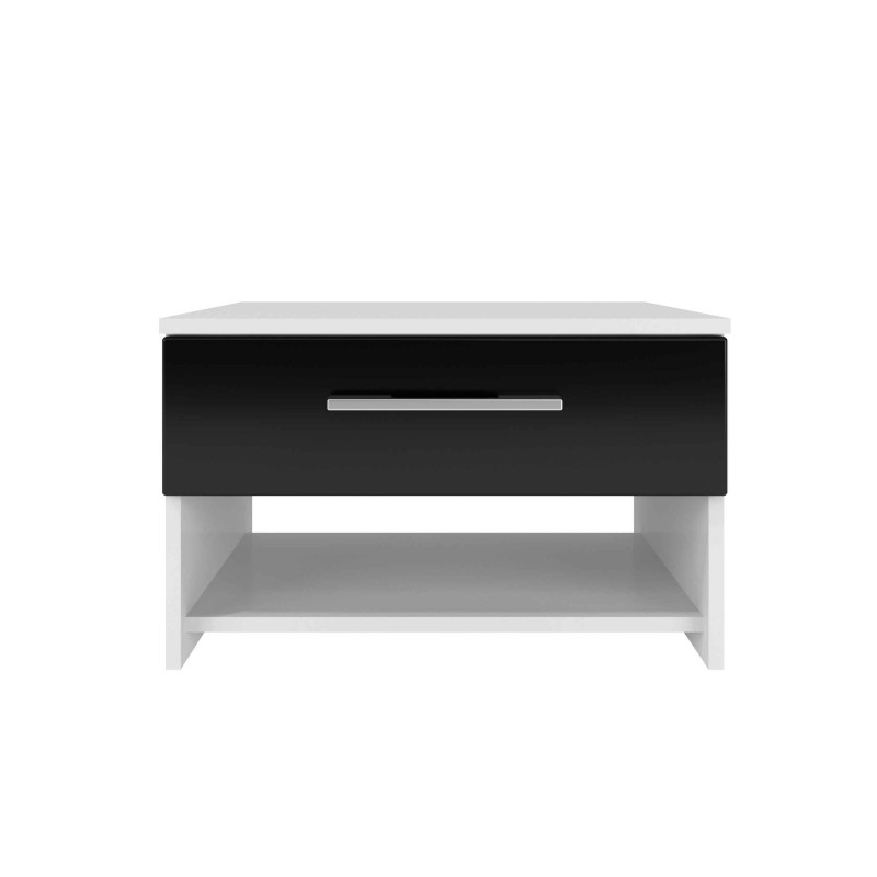 table de chevet diamaan 55cm noir blanc. Black Bedroom Furniture Sets. Home Design Ideas