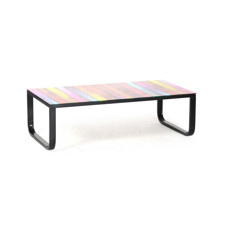 Table basse shadoss 105cm multicolore - Table basse multicolore ...