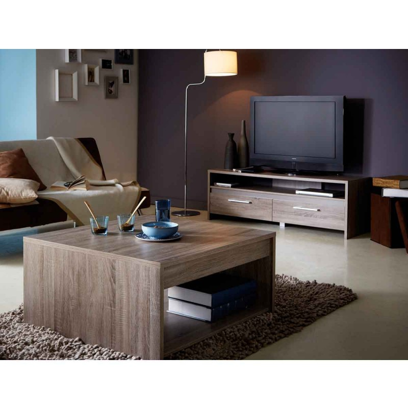 meuble tv teena 138cm ch ne fonc. Black Bedroom Furniture Sets. Home Design Ideas