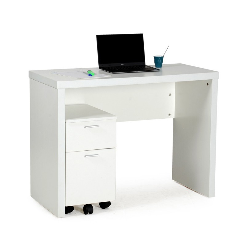 caisson de bureau 2 tiroirs imma 54cm blanc. Black Bedroom Furniture Sets. Home Design Ideas