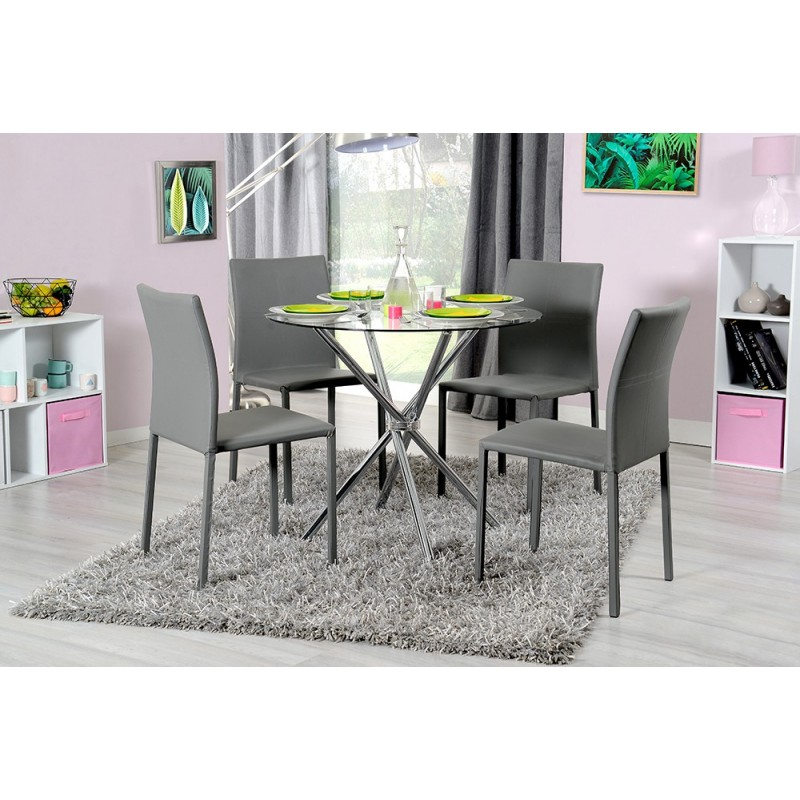 table de repas forssi 89cm transparent. Black Bedroom Furniture Sets. Home Design Ideas