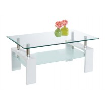 "Table Basse ""Glory"" 100cm Transparent"