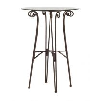 "Table de Bar ""Poz"" 102cm Bronze"