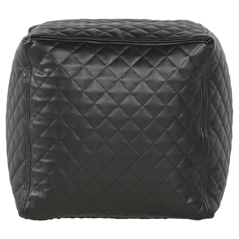 pouf cubix capitonn noir. Black Bedroom Furniture Sets. Home Design Ideas