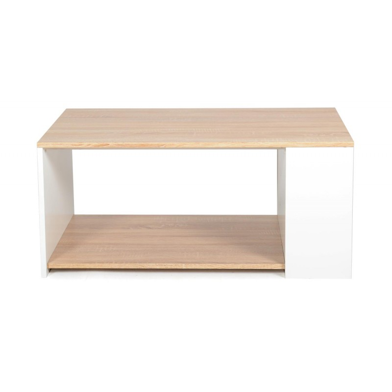 table basse complea 90cm ch ne blanc. Black Bedroom Furniture Sets. Home Design Ideas