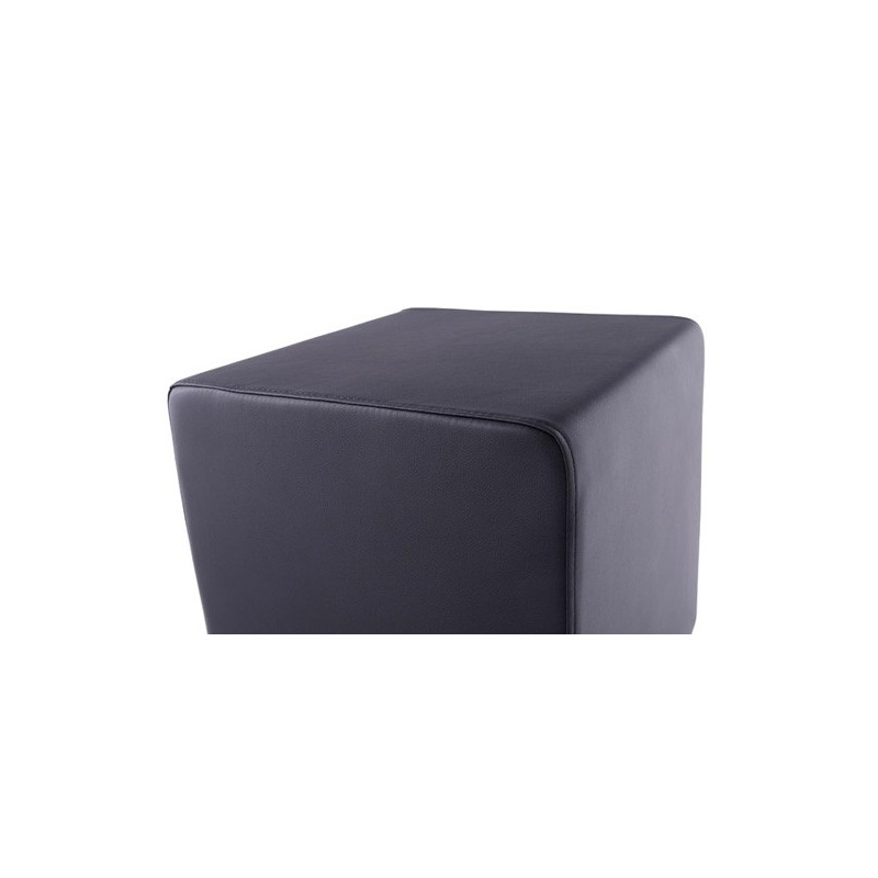 pouf cube simili cuir noir. Black Bedroom Furniture Sets. Home Design Ideas