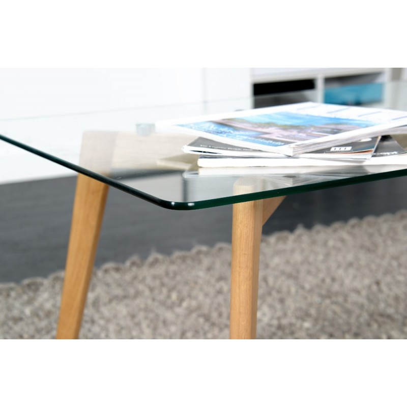Table basse may 120cm ch ne for Table ultra basse