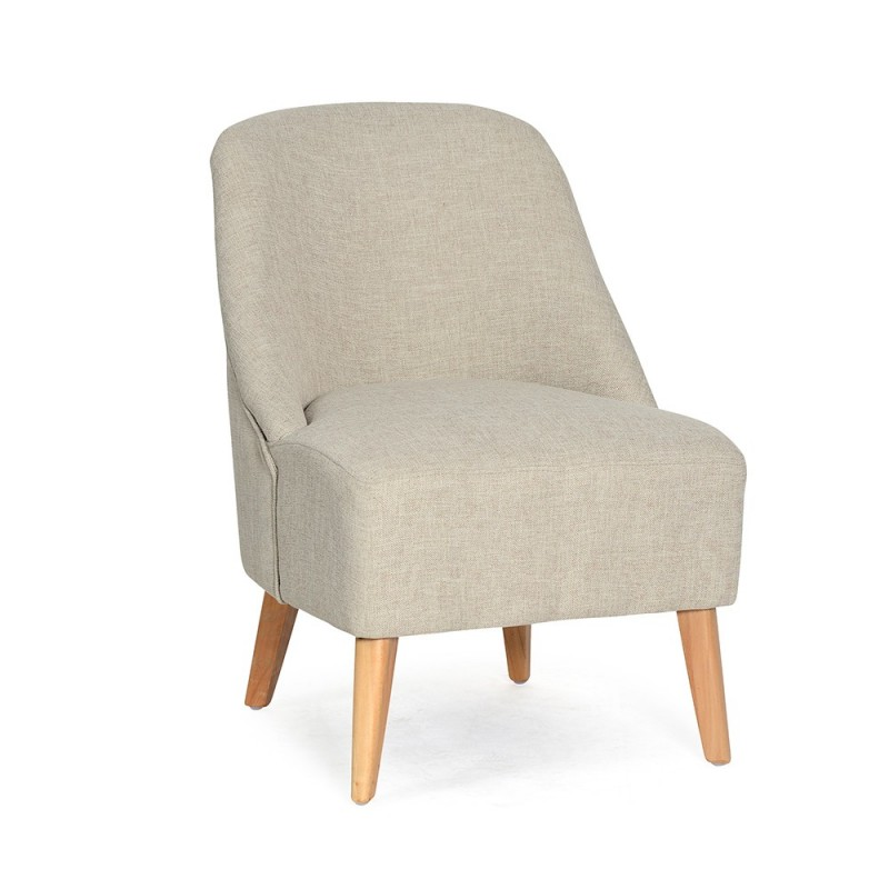 Fauteuil design quotbopozquot 75cm beige for Fauteuil design beige