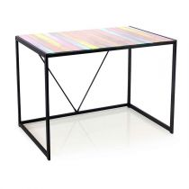 "Bureau en Verre ""Flashy"" 100cm Multicolore"