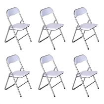 "Lot de 6 Chaises Pliables ""Actor"" 80cm Blanc"