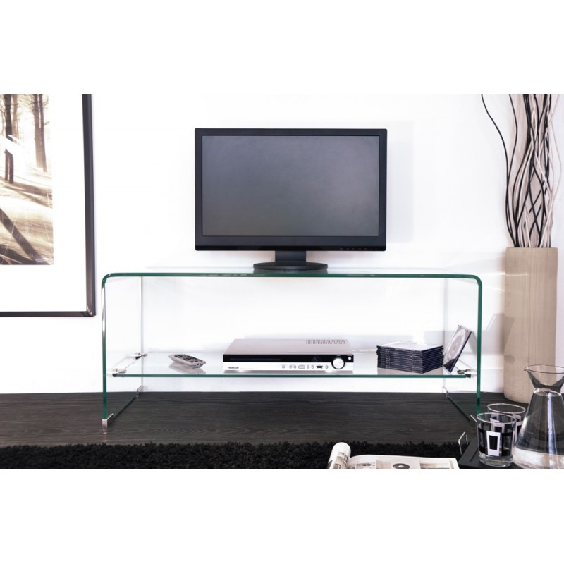 Meuble tv maxus 100cm transparent - Meuble tv 100 cm ...