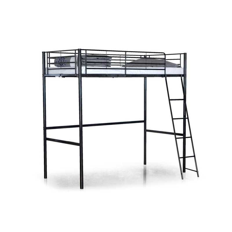 lit mezzanine monki 90x190cm noir. Black Bedroom Furniture Sets. Home Design Ideas