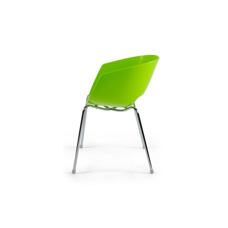 Chaise design glossy vert for Chaise design petit prix