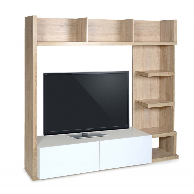 meuble tv complea 160x150cm ch ne blanc. Black Bedroom Furniture Sets. Home Design Ideas