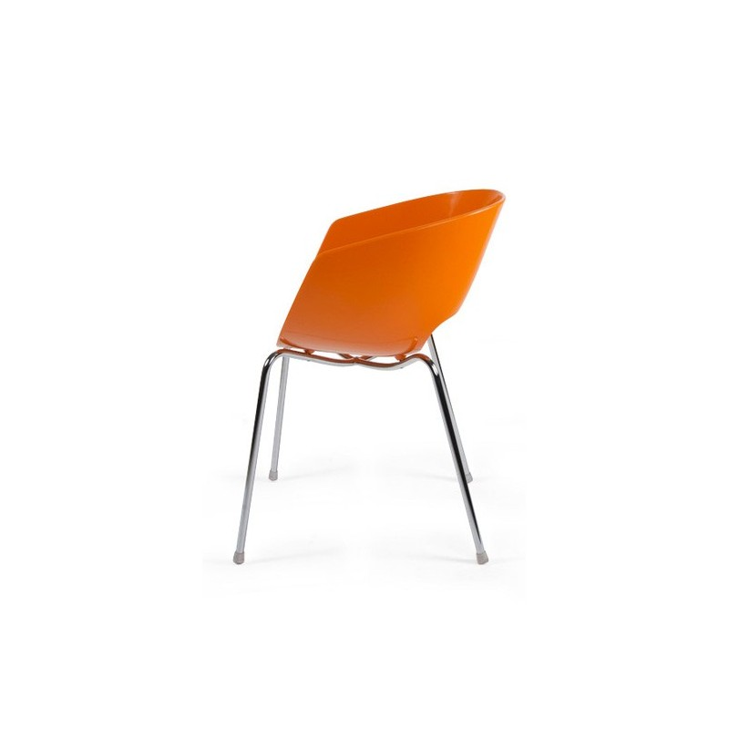 Chaise design glossy orange for Chaise design petit prix