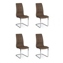 "Lot de 4 Chaises Design ""Bailey"" 103cm Moka"