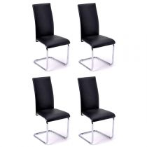 "Lot de 4 Chaises Design ""Julienne"" 98cm Noir"