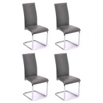 "Lot de 4 Chaises Design ""Julienne"" 98cm Gris"