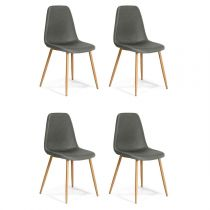 "Lot de 4 Chaises Design ""Beuil"" 86cm Gris Anthracite"