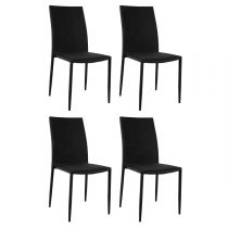 "Lot de 4 Chaises Design ""Scone"" 100cm Noir"
