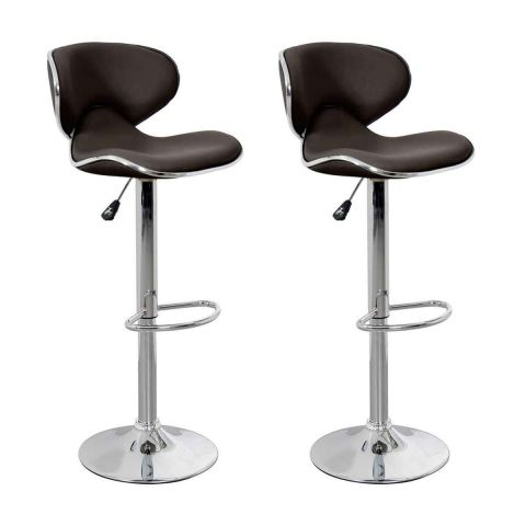 lot de 2 tabourets de bar b a 85cm chocolat. Black Bedroom Furniture Sets. Home Design Ideas