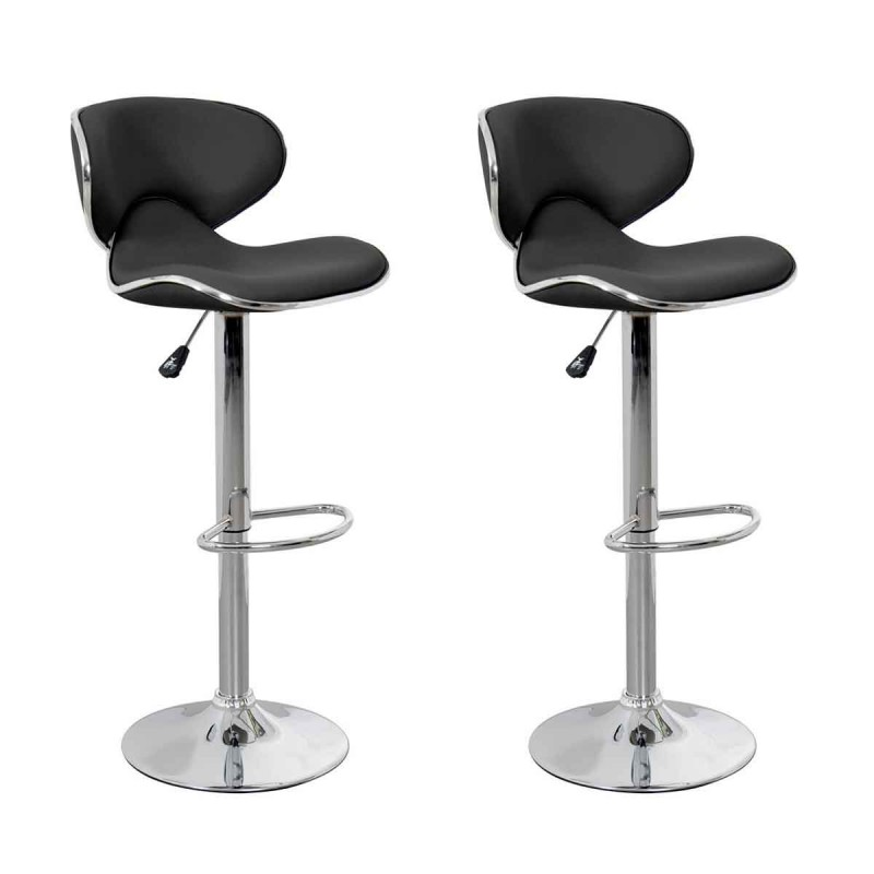 lot de 2 tabourets de bar b a 85cm noir. Black Bedroom Furniture Sets. Home Design Ideas