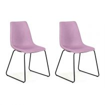 "Lot de 2 Chaises Design ""Bounce"" 85cm Parme"