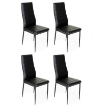 "Lot de 4 Chaises Design ""Tilon"" 96cm Noir"