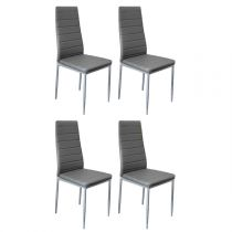 "Lot de 4 Chaises Design ""Tilon"" 96cm Gris"