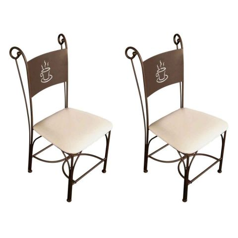 Lot de 2 chaises design poz 100cm bronze ivoire for Chaise pour bronzer