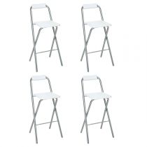 "Lot de 4 Tabourets de Bar ""Louna"" Blanc"