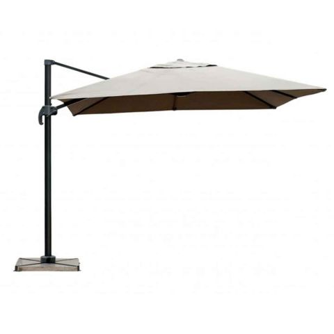 parasol d port rotatif palmira 250cm taupe. Black Bedroom Furniture Sets. Home Design Ideas
