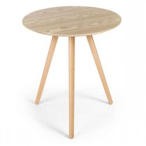 "Table d'Appoint Design ""Marina"" 67cm Chêne"