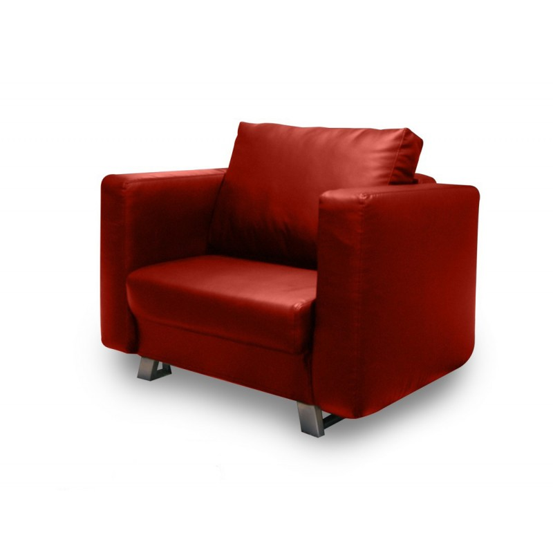 fauteuil convertible soho 90cm rouge. Black Bedroom Furniture Sets. Home Design Ideas