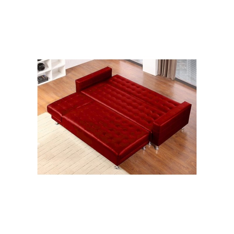 canap d 39 angle convertible sleep 280cm rouge. Black Bedroom Furniture Sets. Home Design Ideas