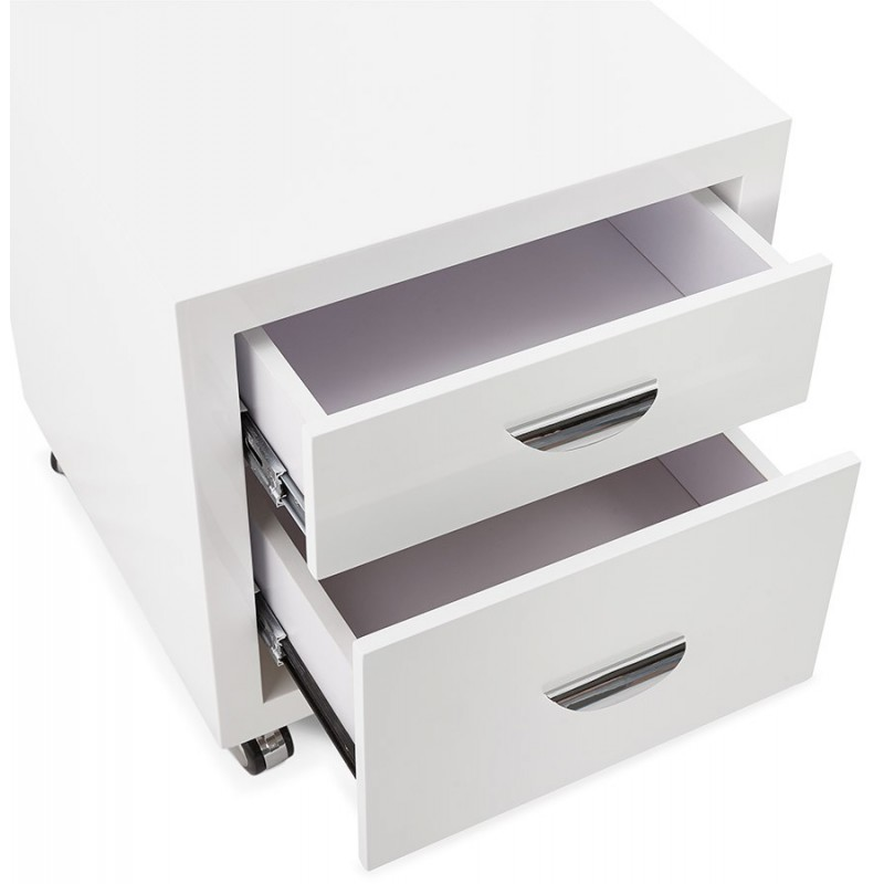 caisson de bureau 2 tiroirs leova 53cm blanc. Black Bedroom Furniture Sets. Home Design Ideas