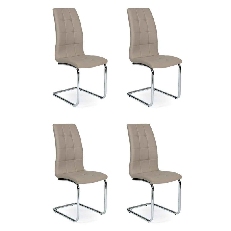 lot de 4 chaises design bailey 103cm taupe. Black Bedroom Furniture Sets. Home Design Ideas