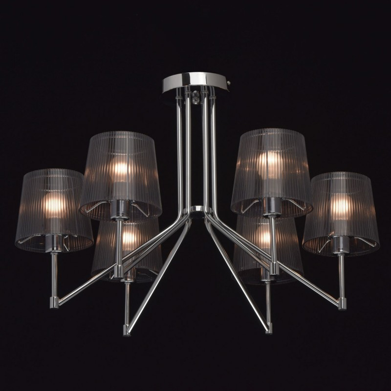 Lustre suspension en m tal gavar 40cm gris for Lustre en suspension