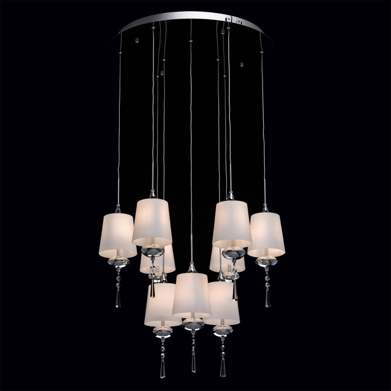 Lampe suspension design maestro 71cm blanc for Lampe suspension design