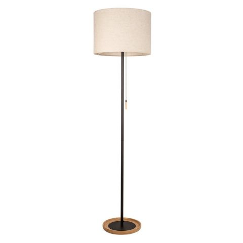 lampadaire m tal bois bao 155cm noir. Black Bedroom Furniture Sets. Home Design Ideas