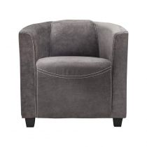 "Fauteuil Design ""Retroat"" 70cm Gris Anthracite"