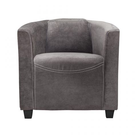fauteuil design retroat 70cm gris anthracite. Black Bedroom Furniture Sets. Home Design Ideas