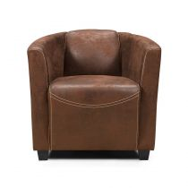 "Fauteuil Design ""Retroat"" 70cm Marron"