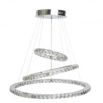 "Lustre Suspension Métal ""Shiny"" 155cm Argent"