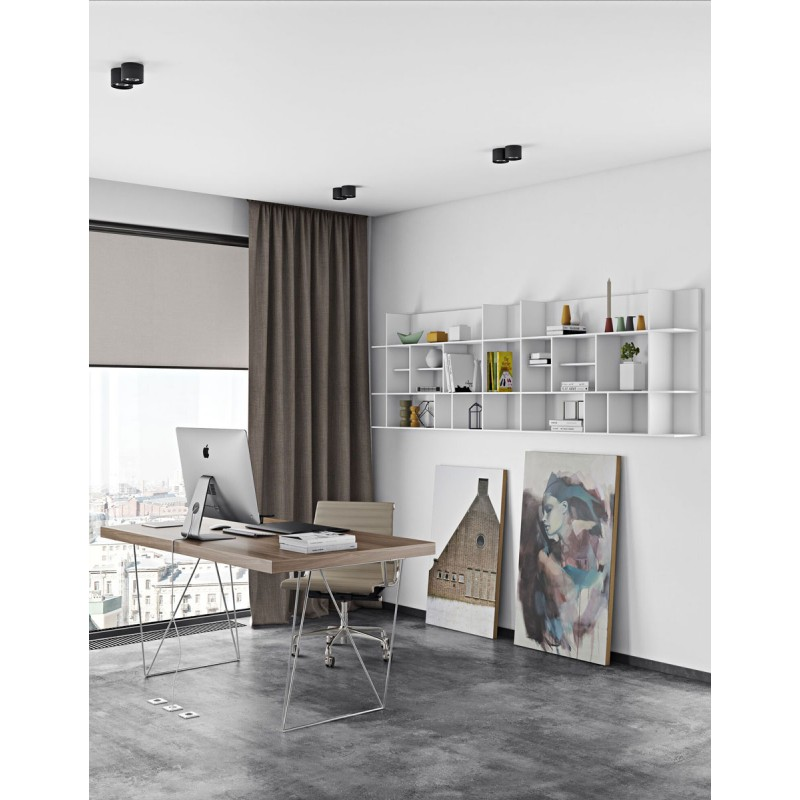 Temahome tag re biblioth que murale panorama pm blanc mat - Bibliotheque murale blanc ...