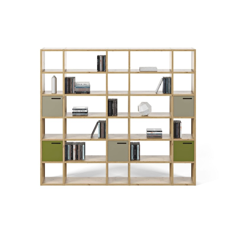 temahome tag re biblioth que pombal 5 ch ne. Black Bedroom Furniture Sets. Home Design Ideas