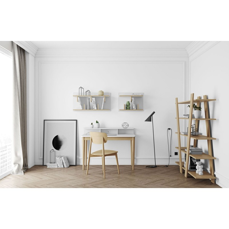 temahome tag re biblioth que murale 60cm bern blanc contreplaqu. Black Bedroom Furniture Sets. Home Design Ideas