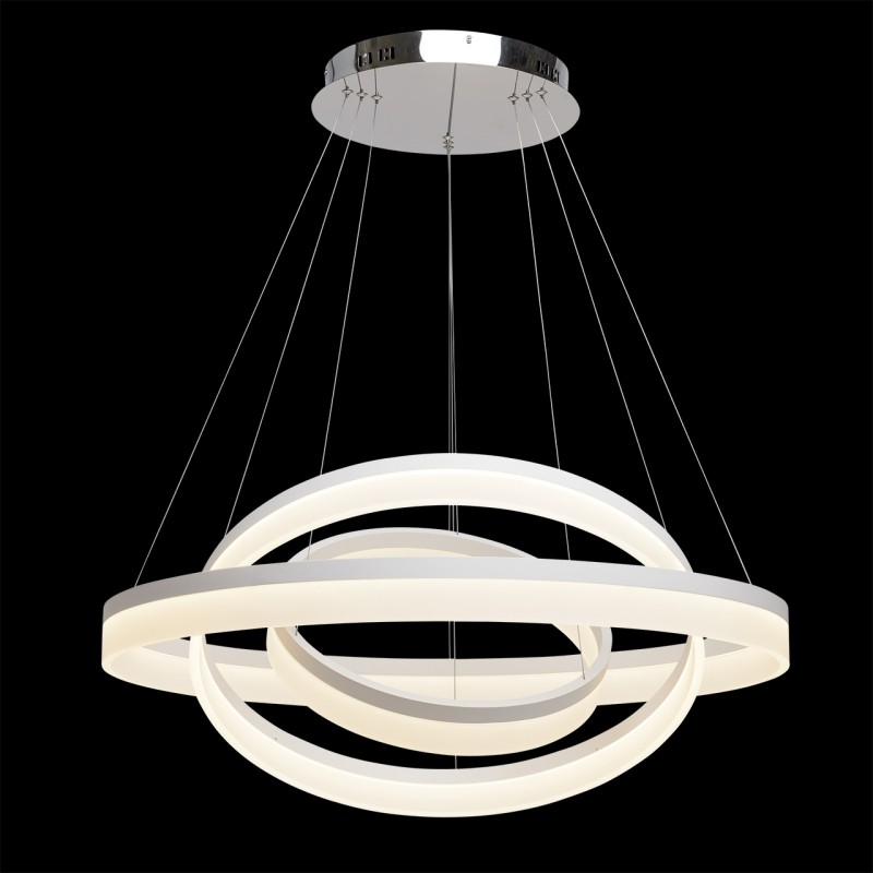Lampe suspension m tal design hopi 3 150cm blanc for Lampe suspension design