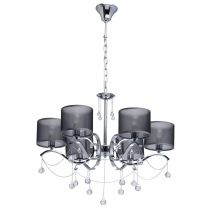 "Lustre Suspension Contemporain ""Tino"" 76cm Argent"