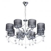 "Lustre Suspension Contemporain ""Tino"" 74cm Argent"
